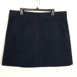 Boden Navy Skirt Dorchester Patch Pocket Mini